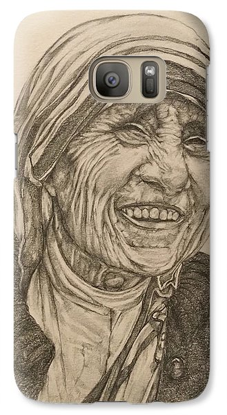Mother Theresa Kindness Galaxy Case by Kent Chua
