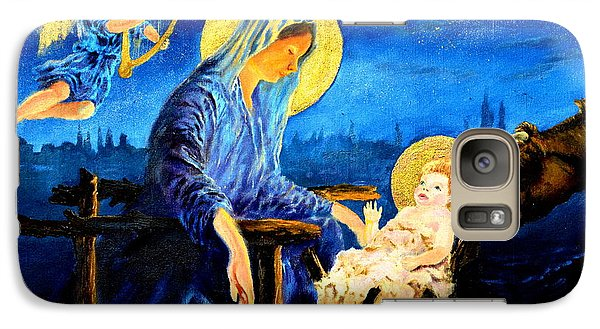 Galaxy Case featuring the painting Motherhood by Henryk Gorecki