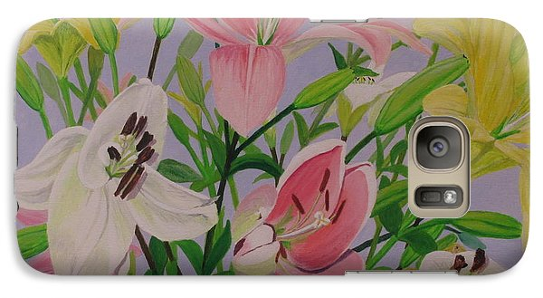 Galaxy Case featuring the painting Mother's Day Bouquet by Hilda and Jose Garrancho
