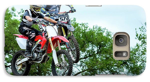 Galaxy Case featuring the photograph Motocross Battle by David Morefield