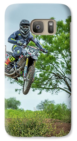 Galaxy Case featuring the photograph Motocross Aerial by David Morefield