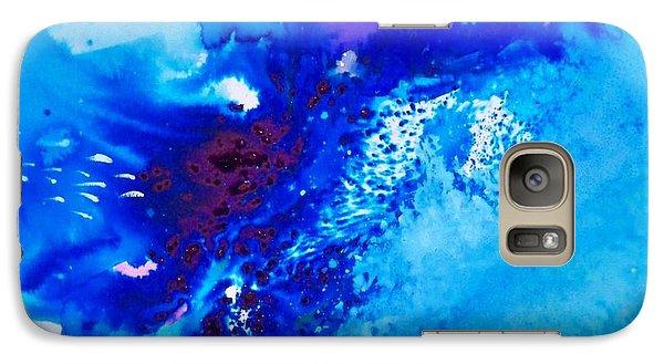 Galaxy Case featuring the painting Motu Arutua by Ed  Heaton