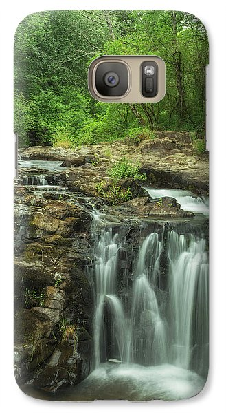 Galaxy Case featuring the photograph Yacolt Falls by Angie Vogel