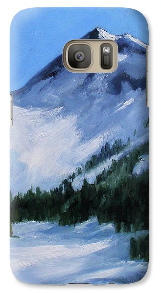 Galaxy S7 Case featuring the painting Mount Baker Glacier by Nancy Merkle