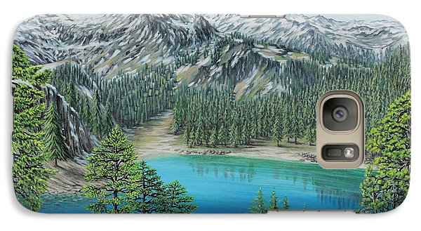 Galaxy Case featuring the painting Mount Baker Wilderness by Jane Girardot