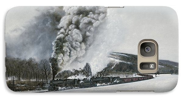 Train Galaxy S7 Case - Mount Carmel Eruption by David Mittner