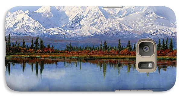 Mount Rushmore Galaxy S7 Case - mount Denali in Alaska by Guido Borelli