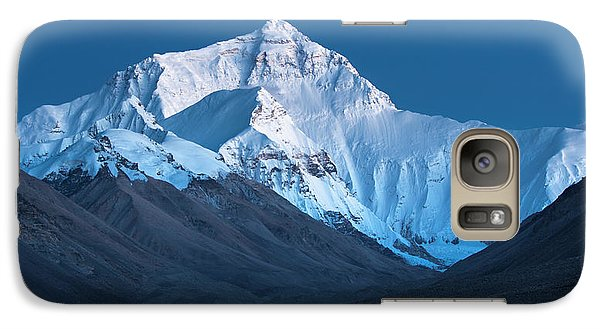 Mount Everest At Blue Hour, Rongbuk, 2007 Galaxy S7 Case