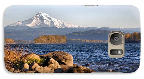 Galaxy Case featuring the photograph Mount Hood And The Columbia River by Jim Walls PhotoArtist