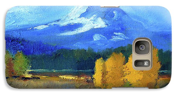 Galaxy S7 Case featuring the painting Mount Hood by Nancy Merkle