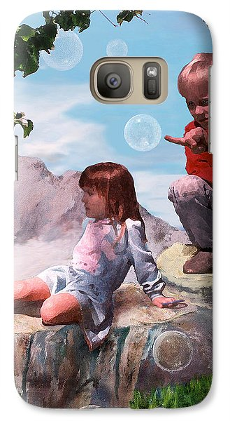 Galaxy Case featuring the painting Mount Innocence by Steve Karol