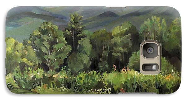 Galaxy Case featuring the painting Mount Lafayette From Sugar Hill New Hampshire by Nancy Griswold