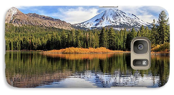 Galaxy Case featuring the photograph Mount Lassen Reflections Panorama by James Eddy