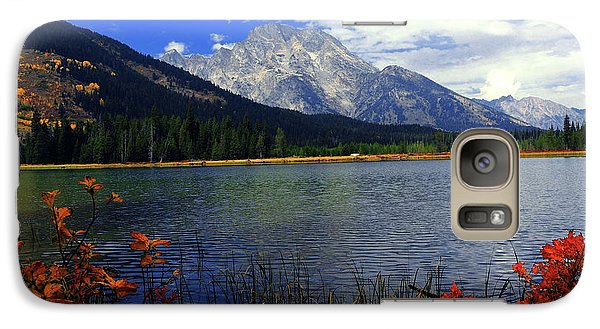 Galaxy Case featuring the photograph Mount Moran In The Fall by Raymond Salani III