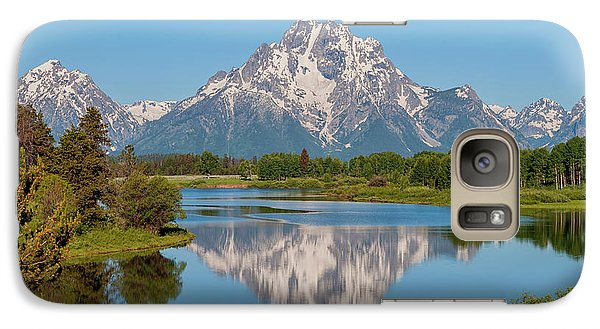Mountain Galaxy S7 Case - Mount Moran On Snake River Landscape by Brian Harig