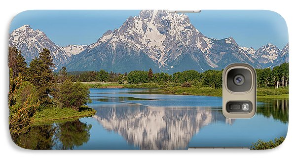 Mount Moran On Snake River Landscape Galaxy Case by Brian Harig