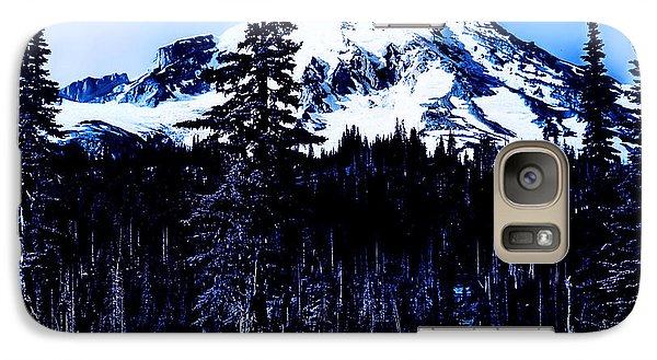 Galaxy Case featuring the photograph Mount Rainier Blue... by Eddie Eastwood