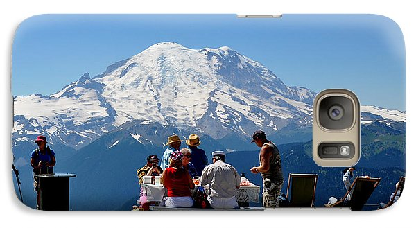 Galaxy Case featuring the photograph Mount Rainier Seen From Crystal Mountain Summit  7 by Tanya  Searcy