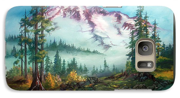 Galaxy Case featuring the painting Mount Rainier by Sherry Shipley