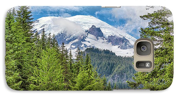 Galaxy Case featuring the photograph Mount Rainier View by Stephen Stookey