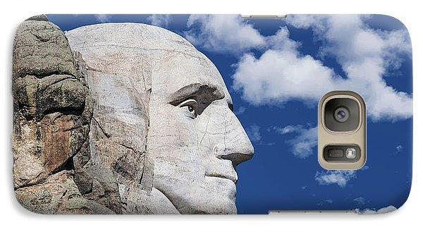 Mount Rushmore Galaxy S7 Case - Mount Rushmore Profile Of George Washington by Tom Mc Nemar