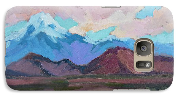 Galaxy Case featuring the painting Mount San Gorgonio by Diane McClary