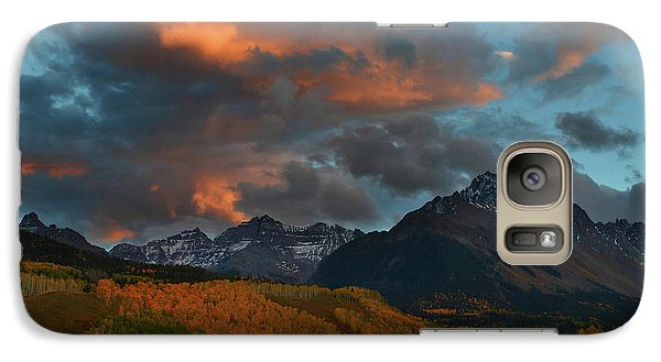 Galaxy Case featuring the photograph Mount Sneffels Sunset During Autumn In Colorado by Jetson Nguyen