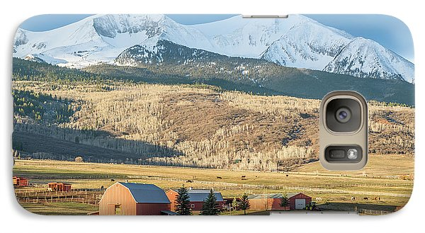 Galaxy Case featuring the photograph Mount Sopris Sunrise by Eric Glaser