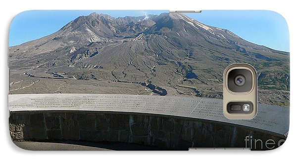 Galaxy Case featuring the photograph Mount St. Helen Memorial by Larry Keahey