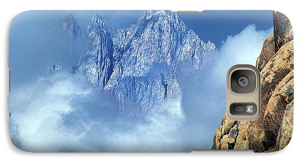 Galaxy Case featuring the photograph Mount Whitney Clearing Storm Eastern Sierras California by Dave Welling