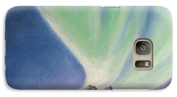 Galaxy Case featuring the painting Mountain Aurora by Stanza Widen