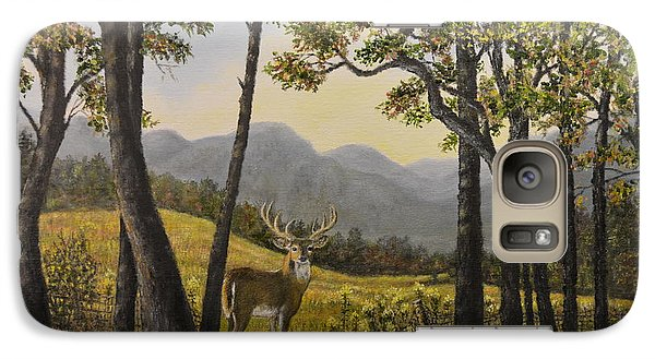 Galaxy Case featuring the painting Mountain Buck by Kathleen McDermott