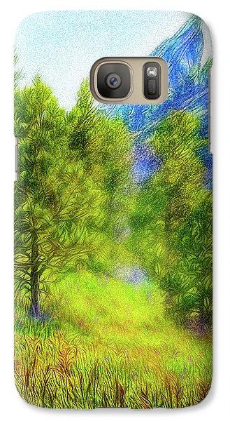 Mountain Field Springtime Galaxy S7 Case