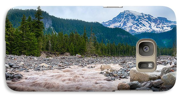 Galaxy Case featuring the photograph Mountain Glacier River by Chris McKenna