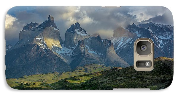 Galaxy Case featuring the photograph Mountain Glimmer by Andrew Matwijec
