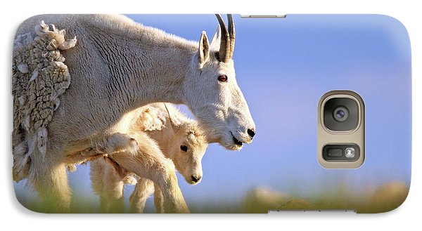 Galaxy Case featuring the photograph Mountain Goat Light by Scott Mahon