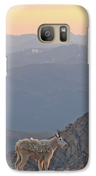 Galaxy Case featuring the photograph Mountain Goat Sunset by Scott Mahon