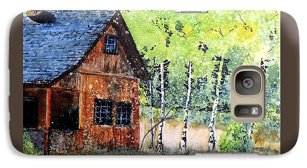 Galaxy Case featuring the painting Mountain Home by Tom Riggs