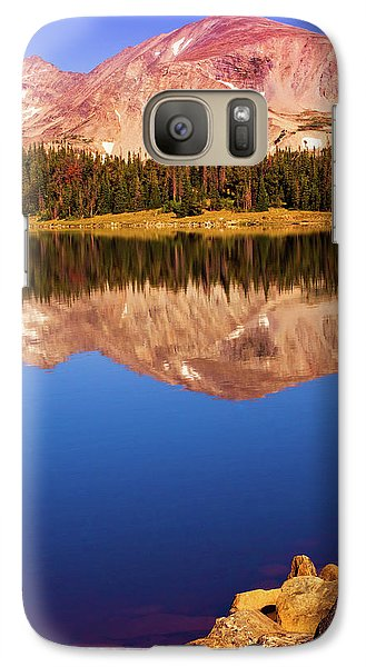 Galaxy Case featuring the photograph Mountain Lake Reflections by John De Bord