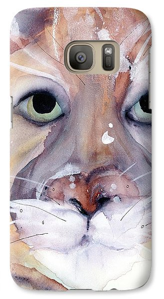 Galaxy Case featuring the painting Mountain Lion by Dawn Derman
