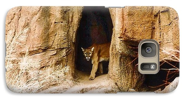Mountain Lion In The Desert Galaxy S7 Case