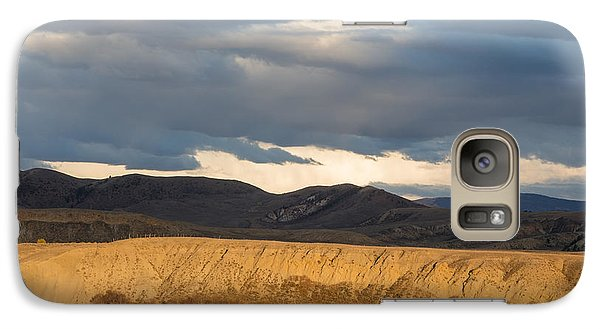 Galaxy Case featuring the photograph Mountain Meadow And Hay Bales In Grand County by Carol M Highsmith