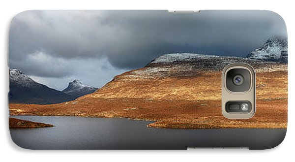 Galaxy Case featuring the photograph Mountain Pano From Knockan Crag by Grant Glendinning