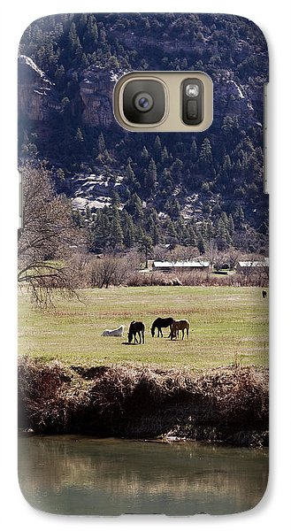 Galaxy Case featuring the photograph Mountain Pasture Vertical by Lorraine Devon Wilke