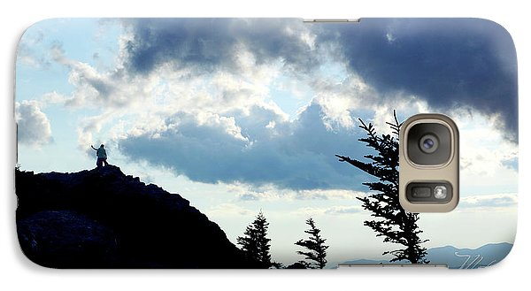 Galaxy Case featuring the photograph Mountain Peak by Meta Gatschenberger