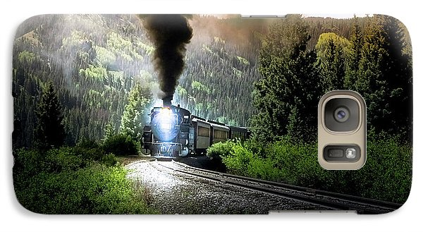 Galaxy Case featuring the photograph Mountain Railway - Morning Whistle by Robert Frederick