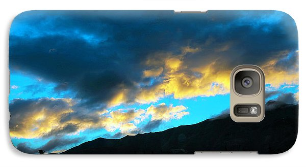 Galaxy Case featuring the photograph Mountain Silhouette by Madeline Ellis
