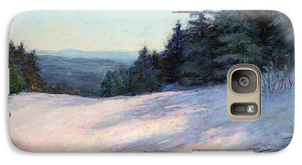 Galaxy Case featuring the painting Mountain Stillness by Vikki Bouffard