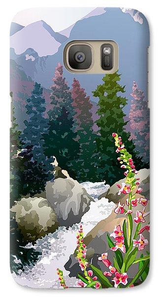 Galaxy Case featuring the digital art Mountain Stream by Anne Gifford