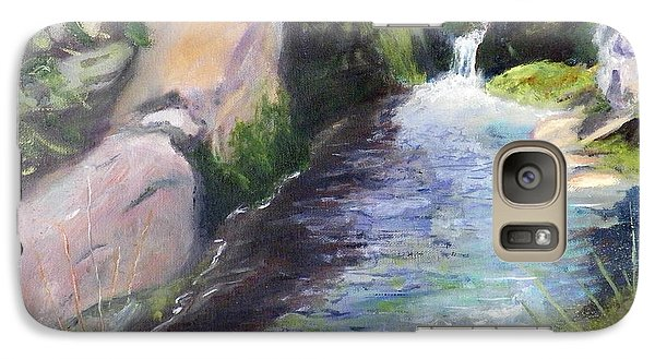 Galaxy Case featuring the painting mountain Stream by Sherril Porter
